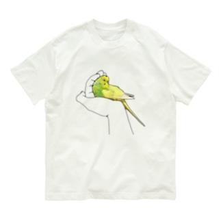 包まれたいインコ Organic Cotton T-shirts