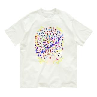 アフロちゃん花火 Organic Cotton T-shirts