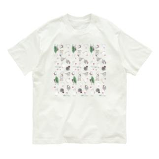 たっぷり文鳥ちゃん【まめるりはことり】 Organic Cotton T-shirts