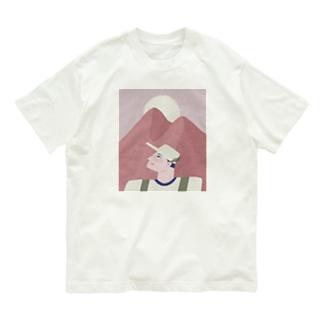 ピンクのおやまに Organic Cotton T-shirts