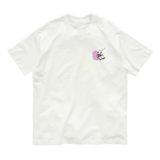パンダと犬すやすや Organic Cotton T-shirts