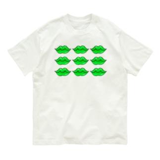 くちびる グリーンリップ Organic Cotton T-Shirt