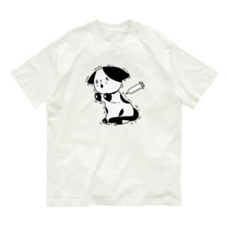注射が怖い猫 Organic Cotton T-shirts