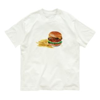ハンバーガー Organic Cotton T-Shirt