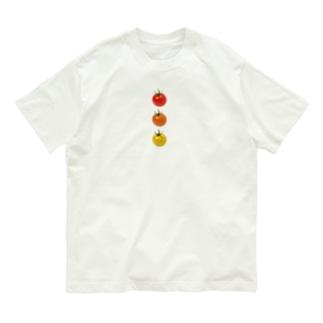 ミニトマト3兄弟 Organic Cotton T-shirts