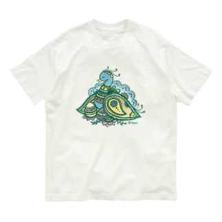 ヘナアート 孔雀 Organic Cotton T-Shirt