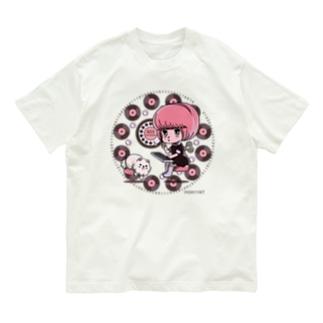 働くにゃー Organic Cotton T-Shirt