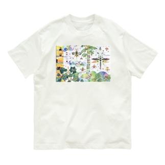 虹色のみくに Organic Cotton T-shirts