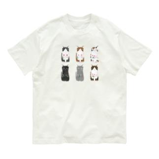 6匹の猫ちゃん Organic Cotton T-Shirt