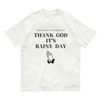 THANK GOD IT'S RAINY DAY Organic Cotton T-shirts