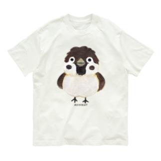 スズメがちゅん Organic Cotton T-Shirt