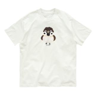 スズメがちゅん*M(イラスト) Organic Cotton T-shirts