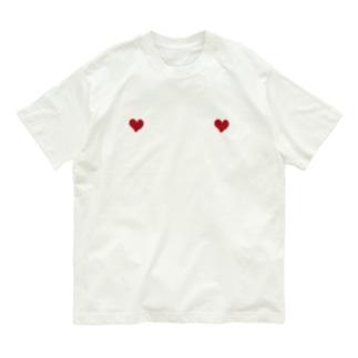 ハート Organic Cotton T-shirts