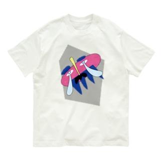 謎のおじさん(ドット背景) Organic Cotton T-Shirt