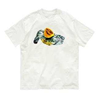 かぼちゃとアルミホイル(枠なしver) Organic Cotton T-Shirt
