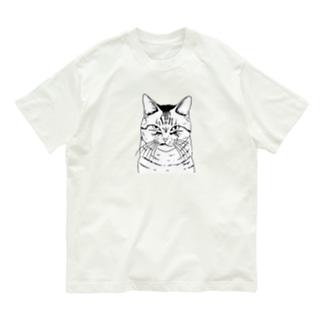 目つきの悪い猫しろ Organic Cotton T-Shirt
