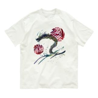 赤八雲昇るタツ(竜) Organic Cotton T-Shirt