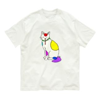 背筋良い猫 Organic Cotton T-Shirt