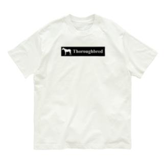 文字ネタ 515 サラブレッドステッカー 黒 Organic Cotton T-shirts