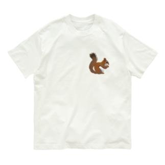 心にリスを Organic Cotton T-Shirt