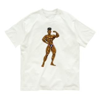 パーツイシバ/マッチョマン Organic Cotton T-Shirt