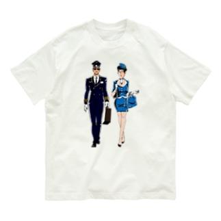 パーツイシバ/パイロット&キャビンアテンダント Organic Cotton T-Shirt