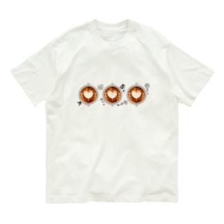 【Lady's sweet coffee】ラテアート メッセージハート / With accessories ~2杯目~ Organic Cotton T-Shirt