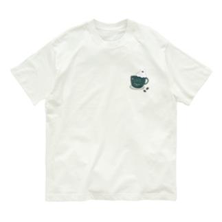 コーヒーカップ文鳥☕  (文鳥の日 2021記念) Organic Cotton T-Shirt