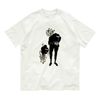 人間化星人(影) Organic Cotton T-shirts