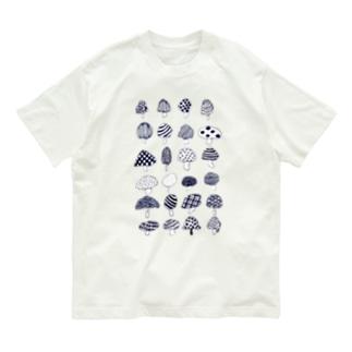 様々なきのこ Organic Cotton T-shirts