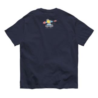 忙しいねこたち 昭和のデカ タテ Organic Cotton T-Shirt