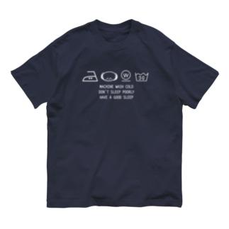 洗濯表示まくらちゃん Organic Cotton T-shirts