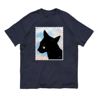 黒猫切手 Organic Cotton T-shirts