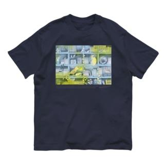 森の本棚(水色レモン) Organic Cotton T-Shirt