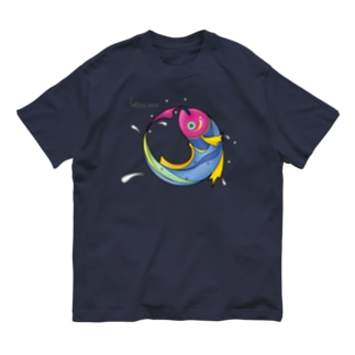 踊る魚 カラー Organic Cotton T-shirts