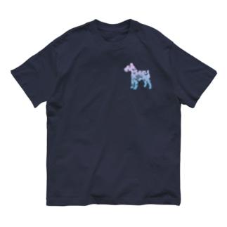 花-sun 2 シュナウザー Organic Cotton T-shirts