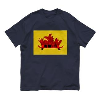 """ BOTANICAL(SKATE BOARD) ""  Organic Cotton T-shirts"