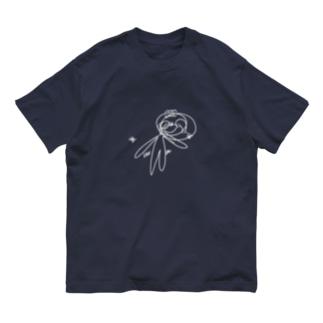目隠しして描いたぺれぞう(しろ) Organic Cotton T-shirts