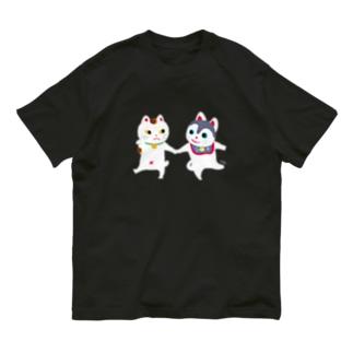 TOYTOY<犬張り子と招き猫> Organic Cotton T-shirts