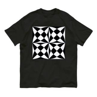 ブラック×ホワイト Organic Cotton T-Shirt