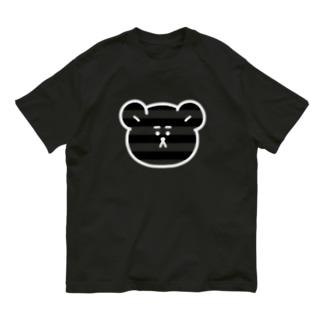 ボーダー柄くま(くろ) Organic Cotton T-shirts