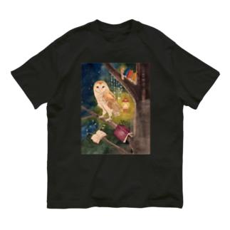 メンフクロウの図書室 Organic Cotton T-Shirt