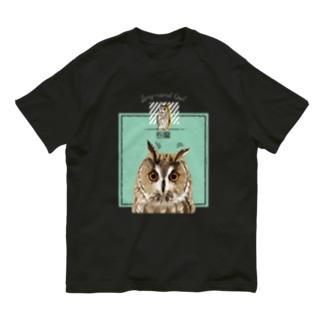 ぴーんっとトラフズク Organic Cotton T-shirts
