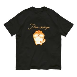 《ネオンシリーズ》*I love orange*しば* Organic Cotton T-shirts