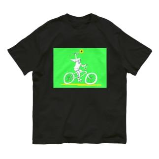"""""""CYCLING(SUNFLOWER) """"  Organic Cotton T-shirts"""