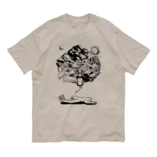 Poooompadoooourのなまけものの夢 モノクロ Organic Cotton T-shirts
