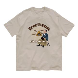 フリー麺ソン 龍馬 Organic Cotton T-shirts