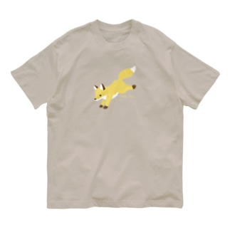 きつね Organic Cotton T-shirts