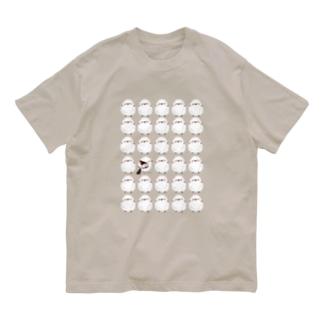 シマエナガずらり Organic Cotton T-shirts