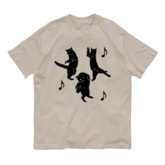 踊るネコ Organic Cotton T-Shirt